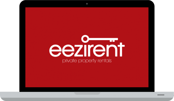 eezirent logo on animated laptop
